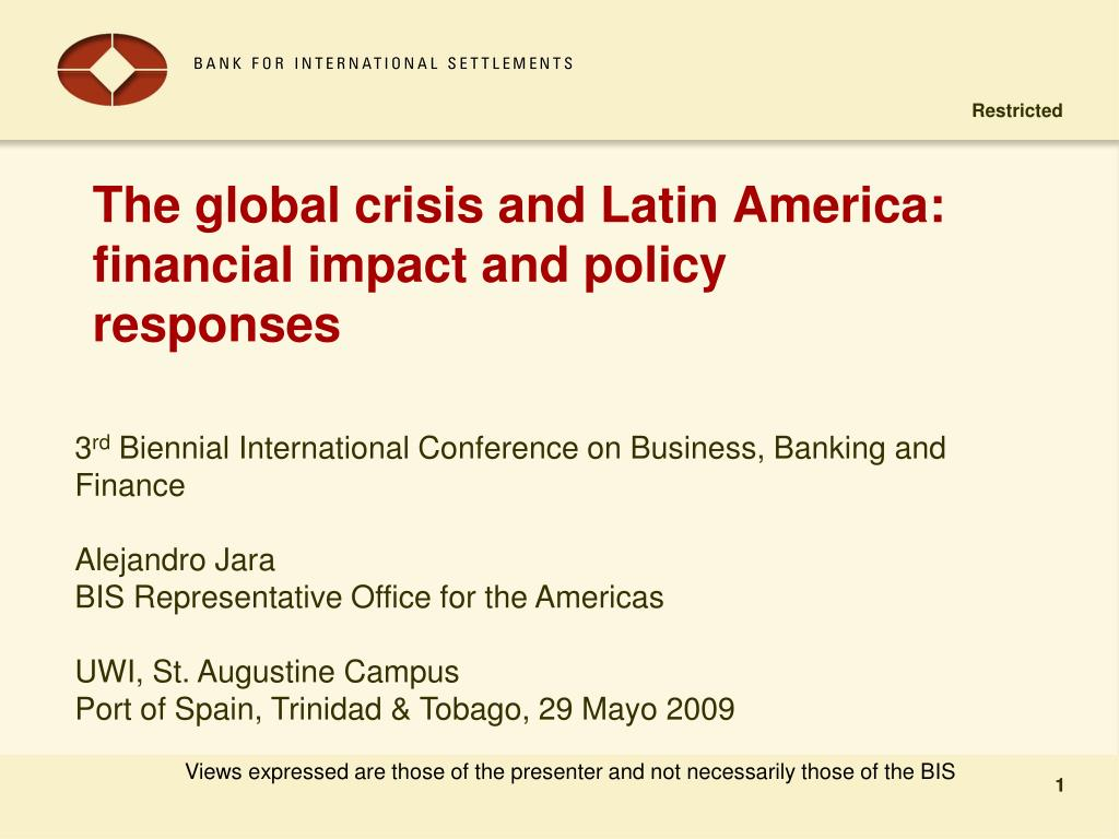 the global crisis and latin america financial impact and policy responses l.