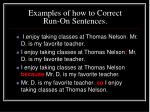 examples of how to correct run on sentences