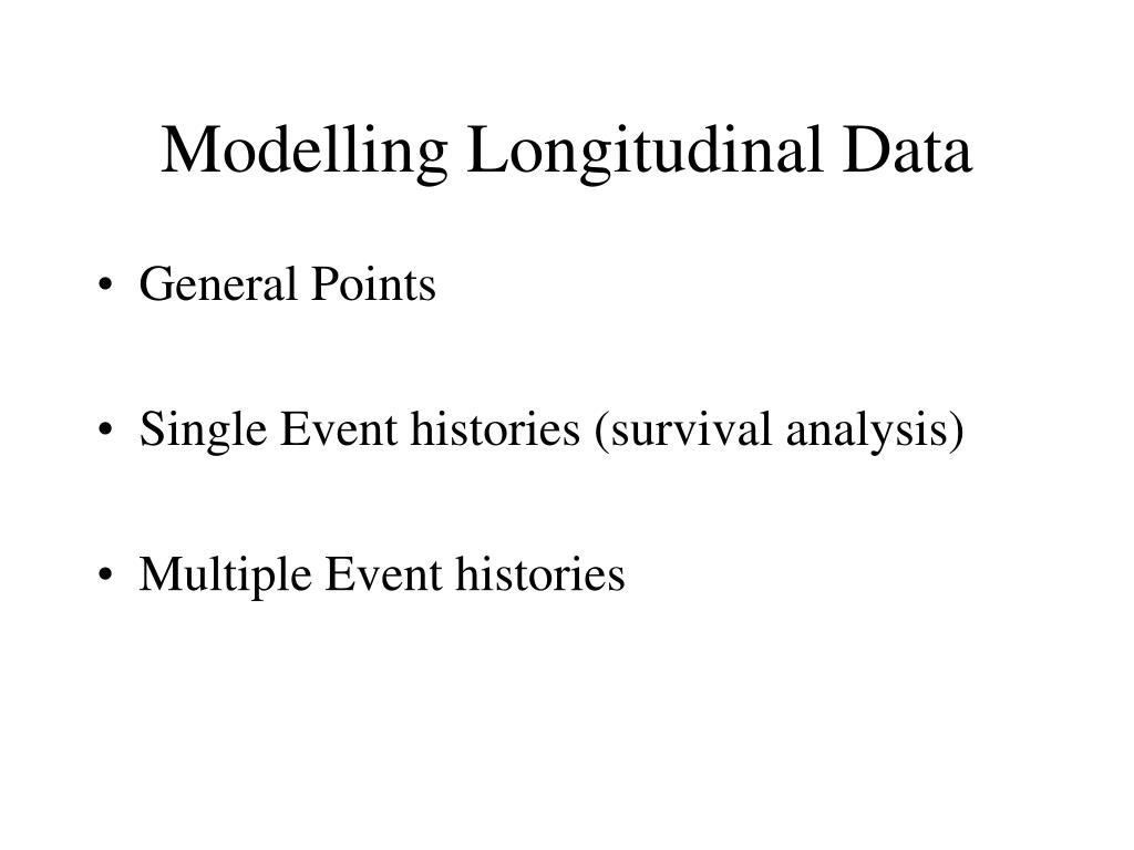 modelling longitudinal data l.