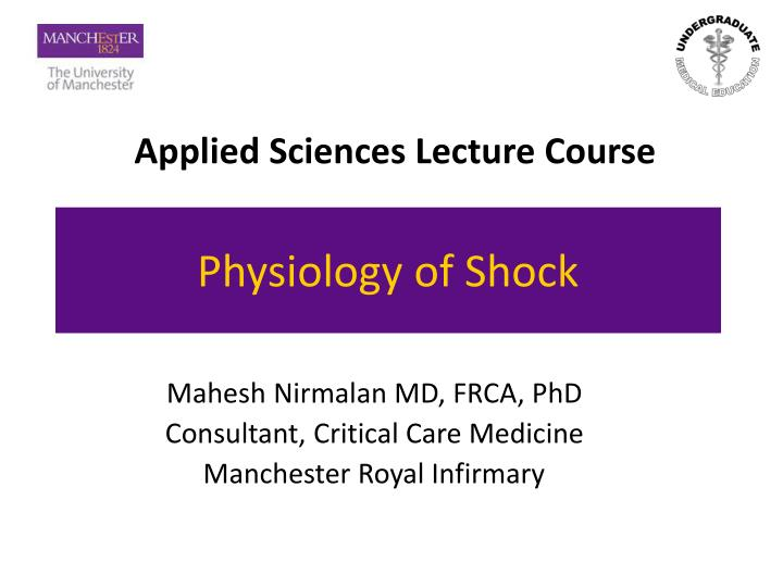 physiology of shock n.