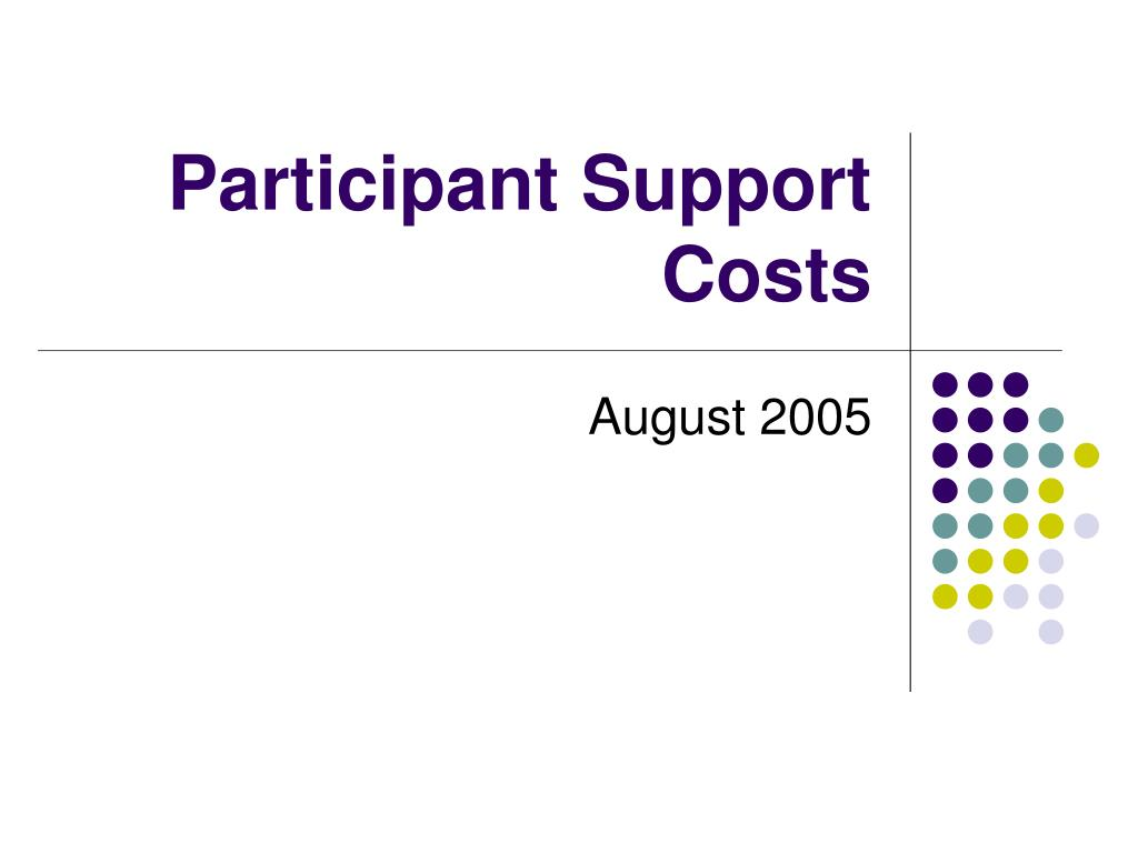 participant support costs l.