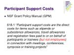 participant support costs2