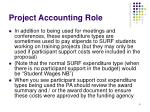 project accounting role