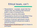 ethical issues con t