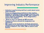 improving industry performance