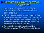 stabilised instrument approach background