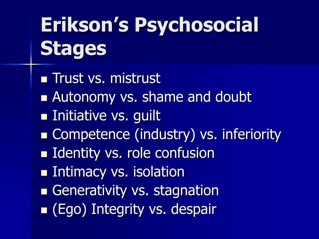 erikson s psychosocial stages l.