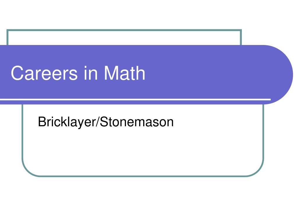 careers in math l.