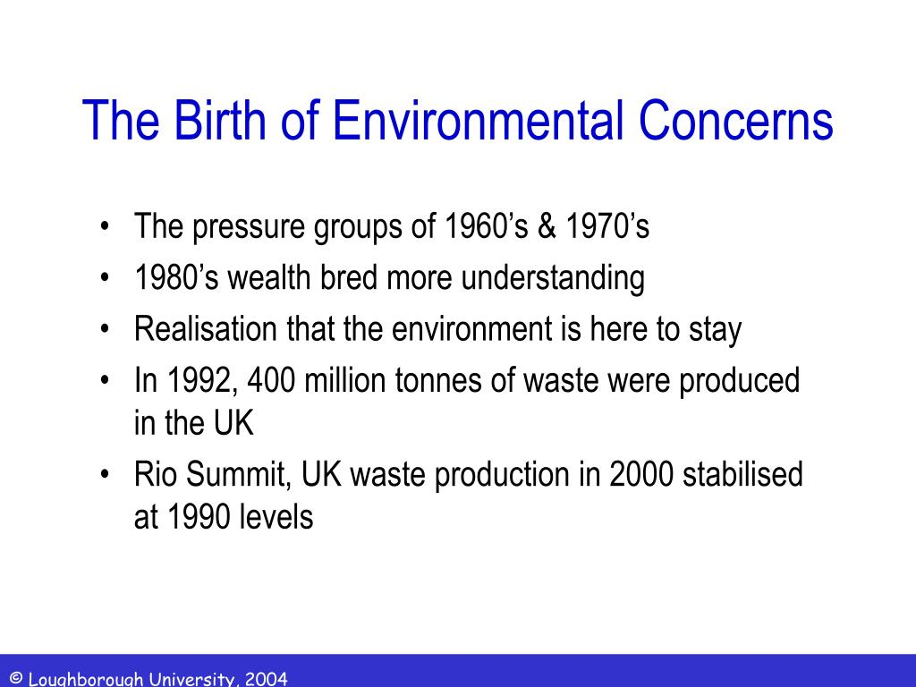 the birth of environmental concerns l.