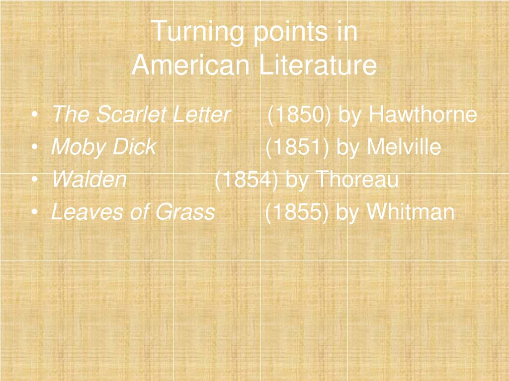 turning points in american literature l.