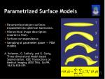 parametrized surface models