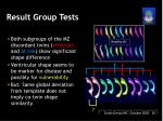 result group tests