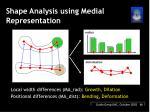 shape analysis using medial representation