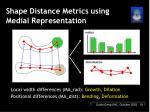 shape distance metrics using medial representation