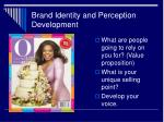 brand identity and perception development