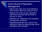 online brand reputation management