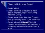 tools to build your brand
