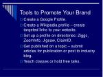 tools to promote your brand