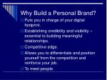 why build a personal brand