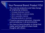 your personal brand product you21