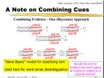 a note on combining cues32