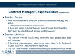 contract manager responsibilities continued