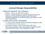 contract manager responsibilities