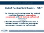 student membership chapters why