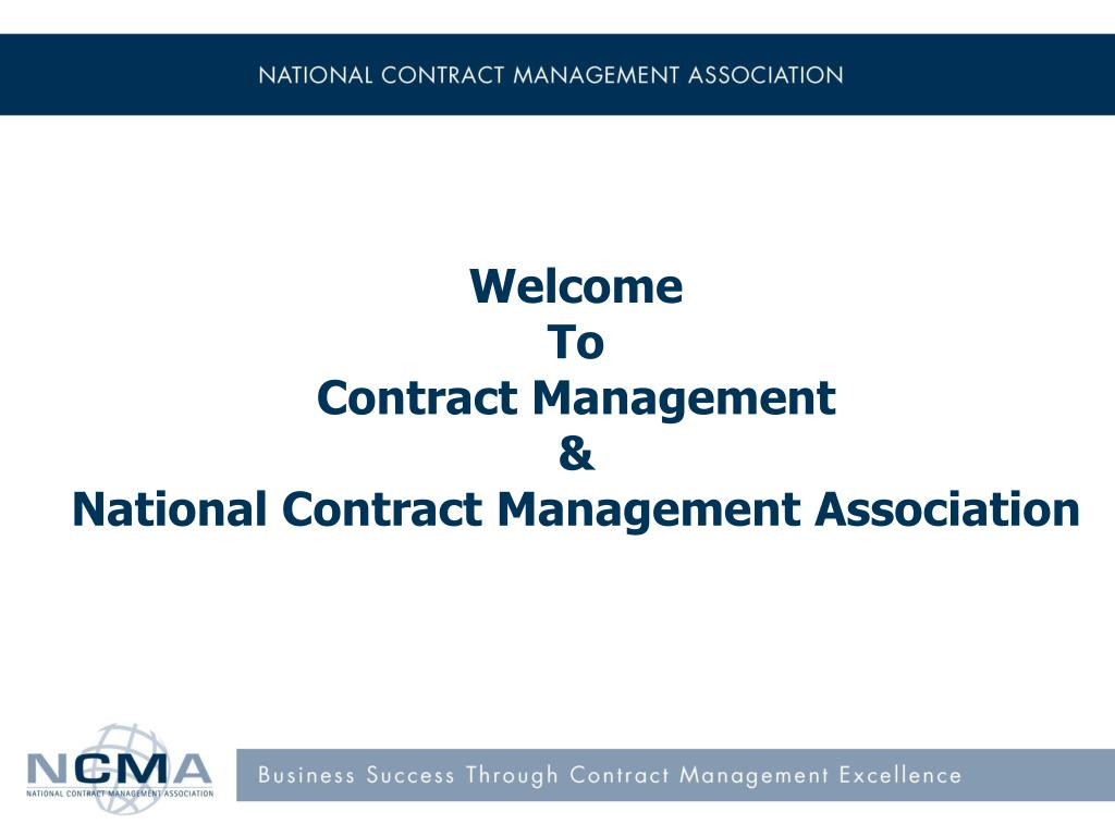 welcome to contract management national contract management association l.