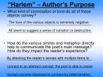 harlem author s purpose5