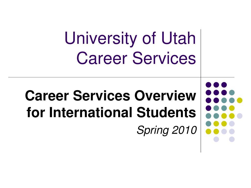 university of utah career services l.