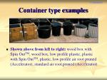 container type examples
