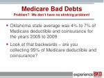 medicare bad debts problem we don t have no stinking problem