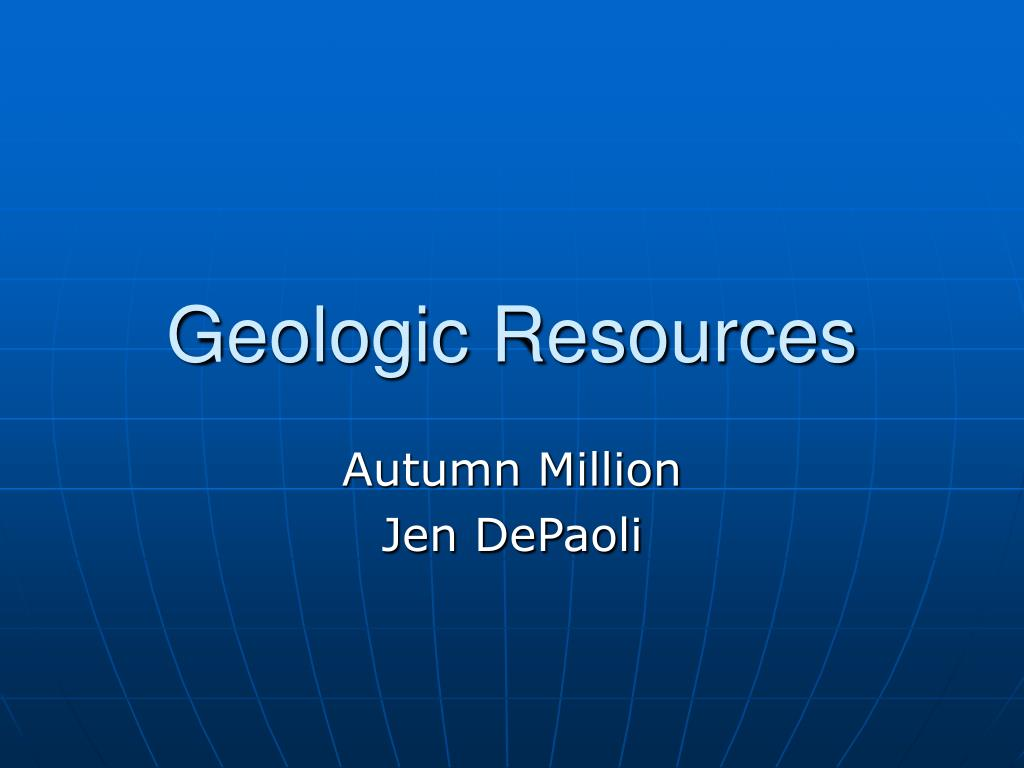 geologic resources l.