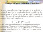 design of non erodible channels