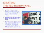 creating the red ribbon wall