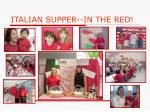 italian supper in the red