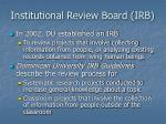 institutional review board irb