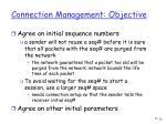 connection management objective