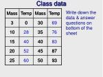 class data