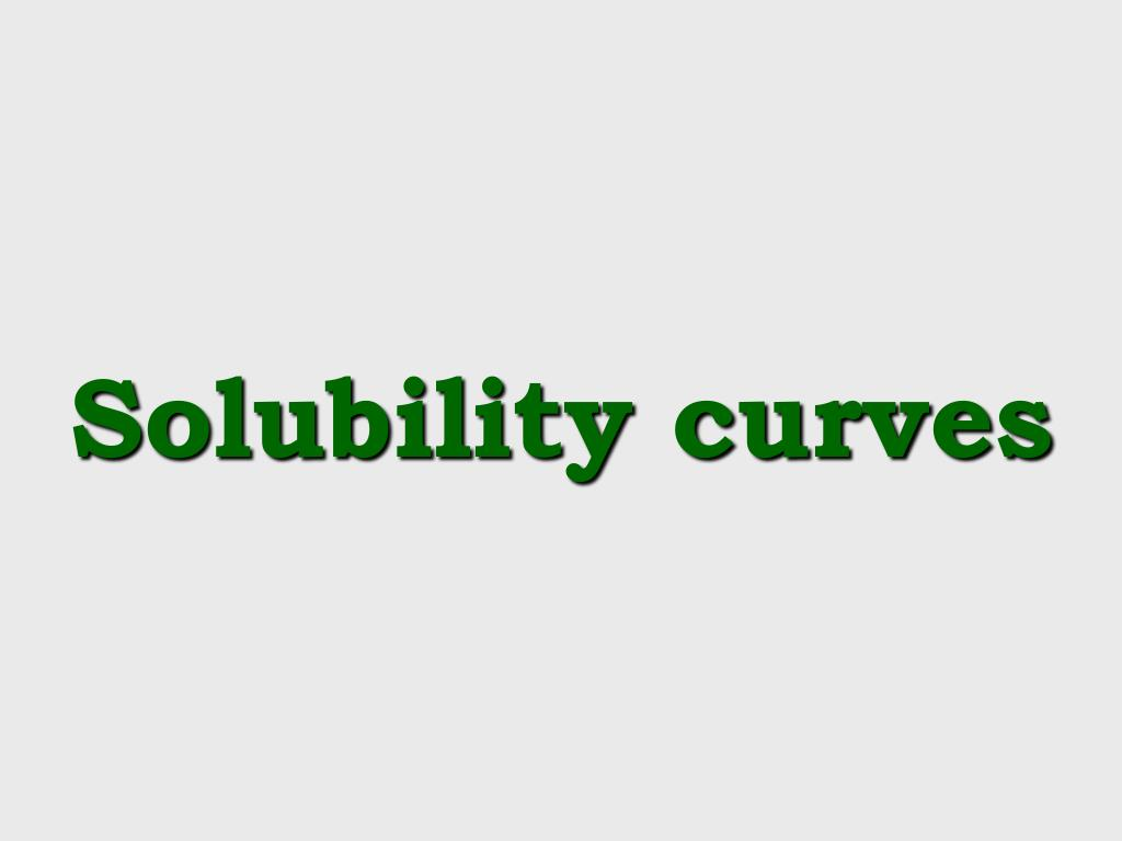 solubility curves l.