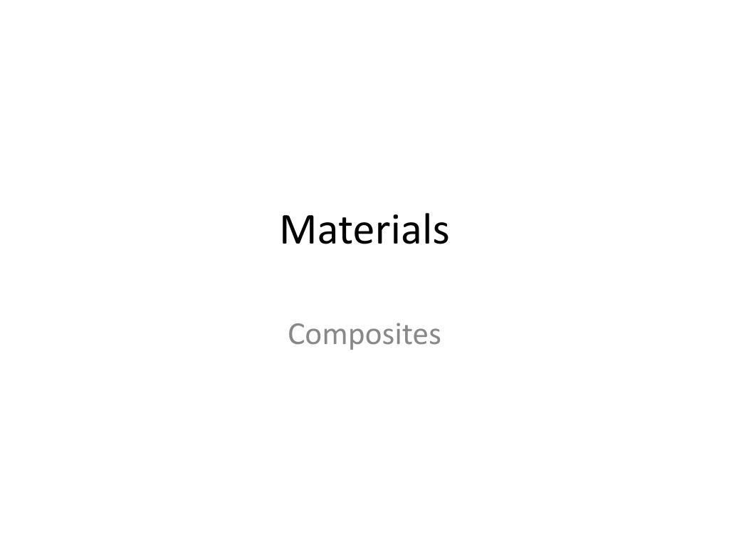 materials l.