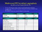 multivessel pci in infarct angioplasty roe mt et al am j cardiol 2001 88 170 3