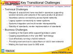key transitional challenges