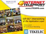 sip ss7 interworking @ the application layer