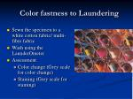 color fastness to laundering