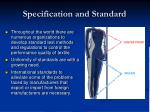 specification and standard