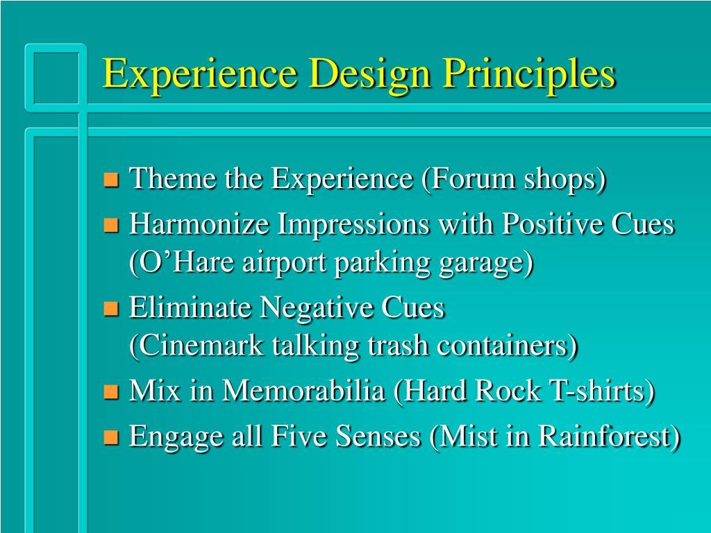 Experience Design Principles