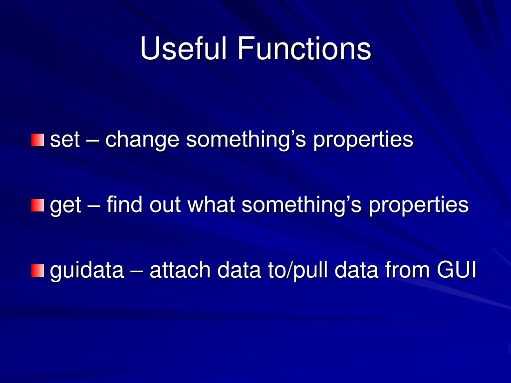 Useful Functions
