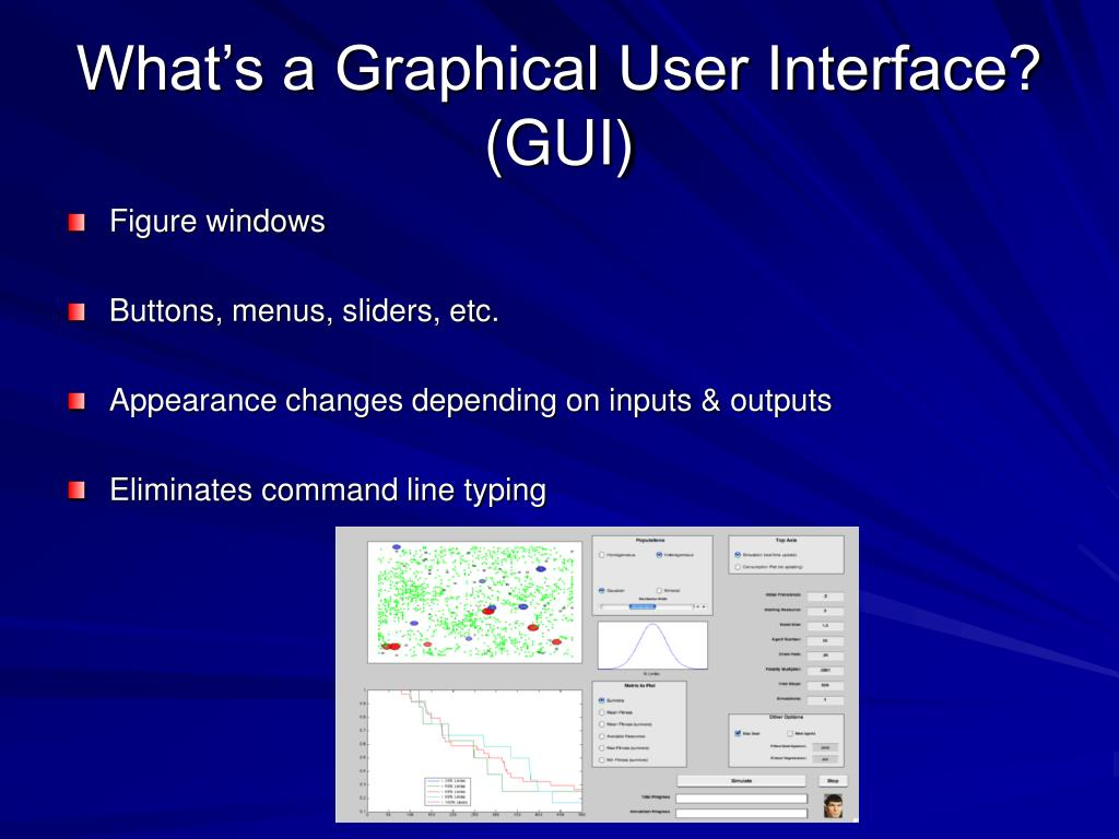 What's a Graphical User Interface? (GUI)